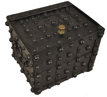 Jesse Delano & Sons Hobnail Money Chest